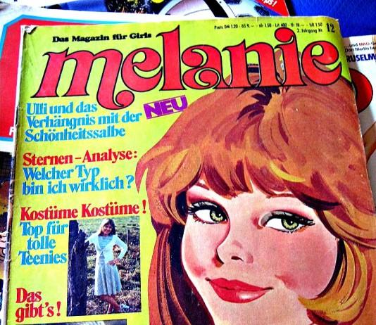 """Ausgabe der Zeitschrift """"Melanie"""" aus dem Jahr 1975"""