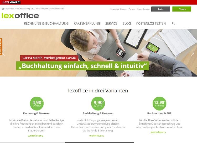 Auf der Website von lexoffice kann man die Buchhaltungssoftware kostenfrei testen.