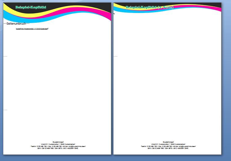 Eine der Word- oder LibreOffice-Vorlagen von lexoffice, in die man das eigene Logo und die eigenen Schriften einfügen kann.