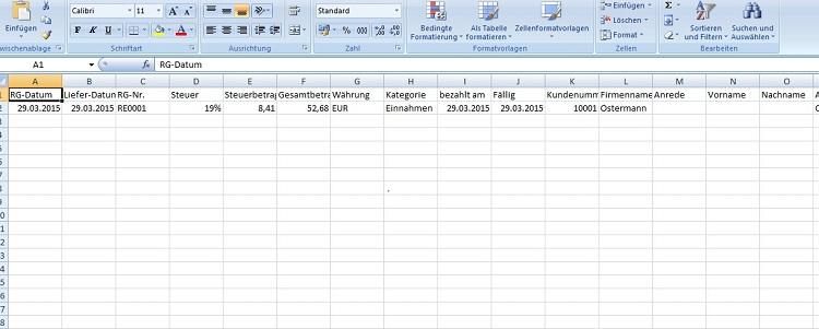 Die Buchungen von lexoffice können als Excel-Datei exportiert werden.