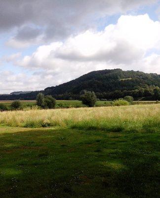 Charakteristisch fürs Weserbergland: sanft geschwungene Hügel