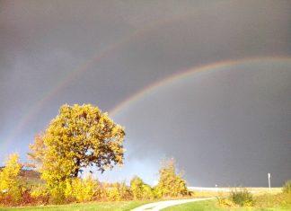 Erinnerungen sind wie ein Regenbogen - sie bringen Farbe in die Trauer.